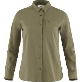 Fjällräven Övik Lite LS Shirt Women, verde